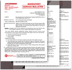 Lycoming Mandatory Service Bulletin