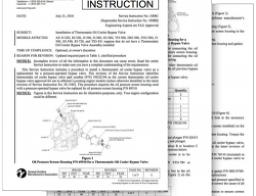 Lycoming Service Instruction 1037 S (SI1037S)